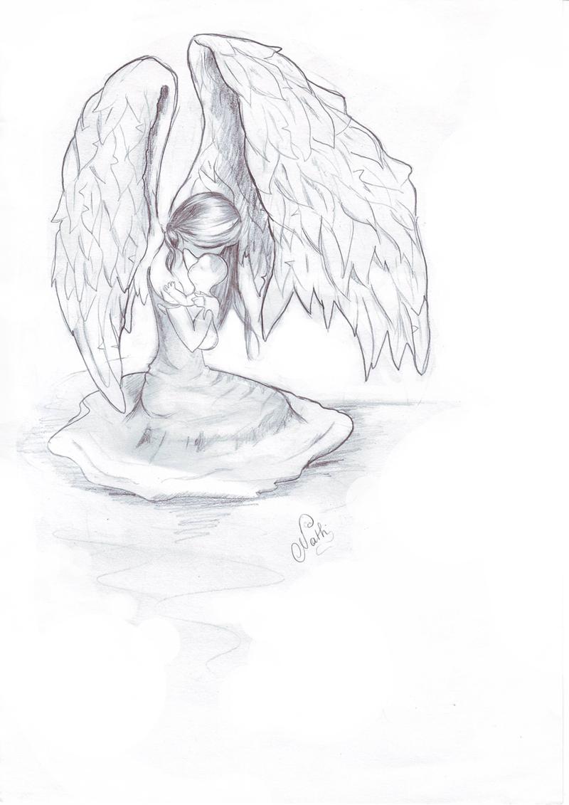 Dessin Ange Triste draw dream and art